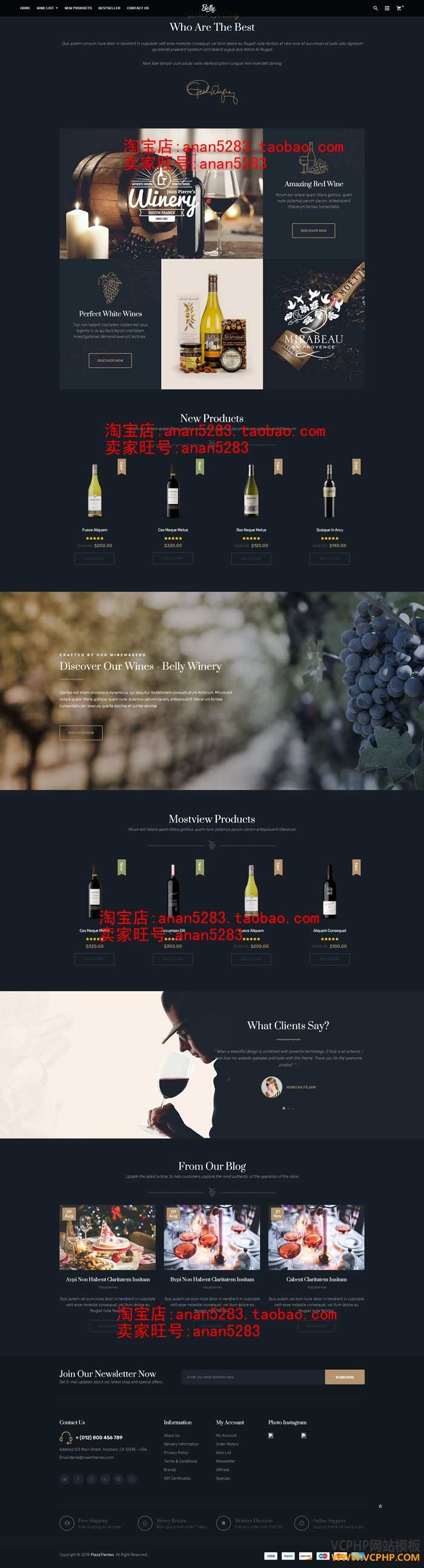 Wine Food & Drink Theme for Opencart 3.x